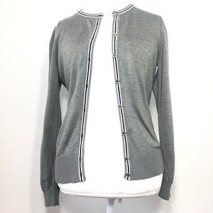 Tommy Hilfiger Button Down Cardigan Gray Sweater M